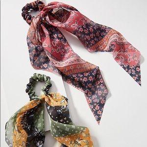 Anthropologie Misty scarf ponytail set